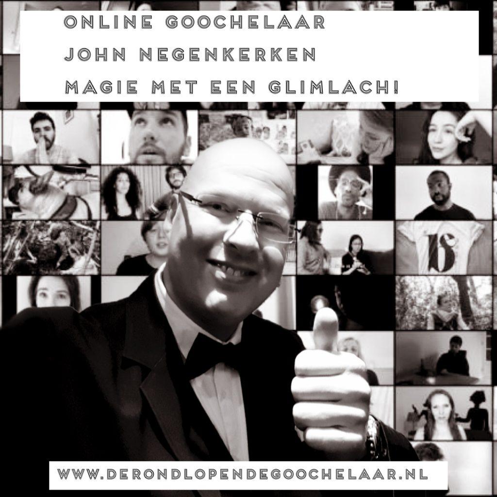 Online goochelaar ook wel onlinegoochelaar genoemd John Negenkerken